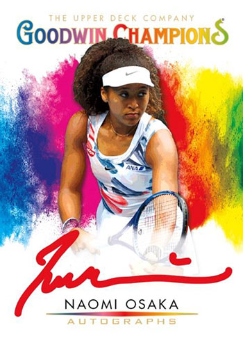 2021 Upper Deck Goodwin Champions Splash of Color Red Ink Autograph Naomi Osaka