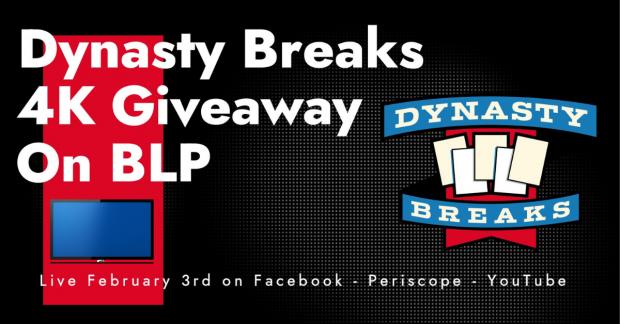 Dynasty Breaks 4K Giveaway