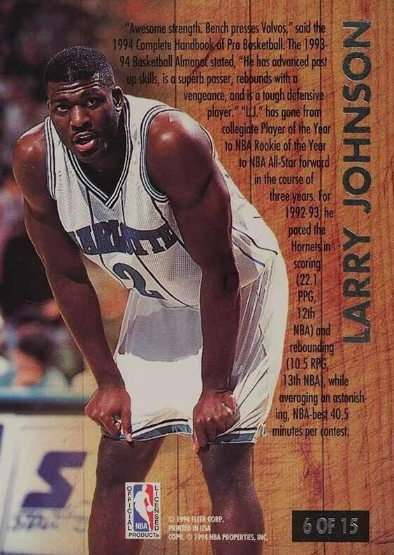 Cards & Kicks: Larry Johnson