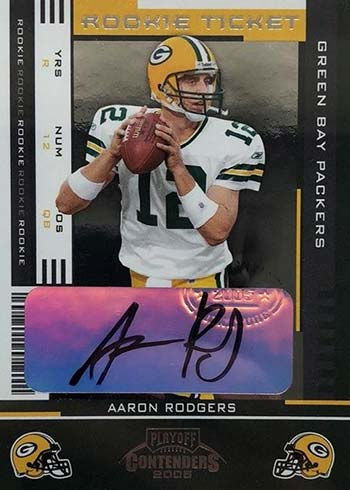 2005 Playoff Contenders Aaron Rodgers Rookie Card Autograph