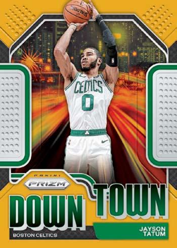 2020-21 Panini Prizm Basketball Downtown Bound Gold Prizms Jayson Tatum