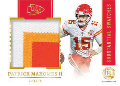 2020 Panini Encased Football Substantial Swatches