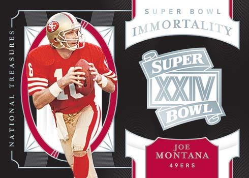 2020 Panini National Treasures Football Super Bowl Immortality