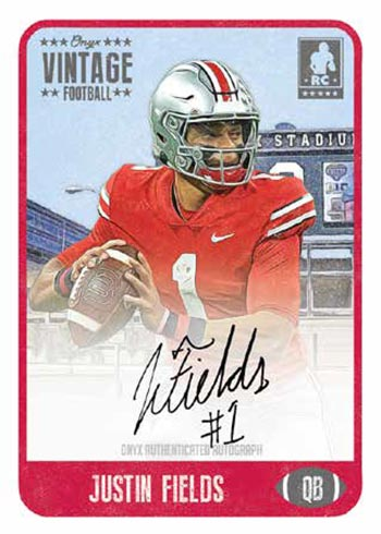 2021 Onyx Vintage Football Justin Fields Autograph