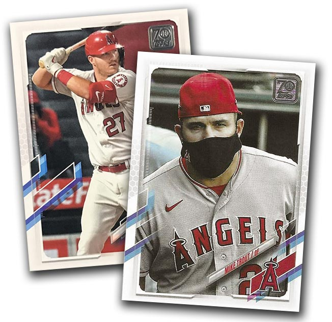 2021 Topps Series 1 Baseball Variations Mike Trout