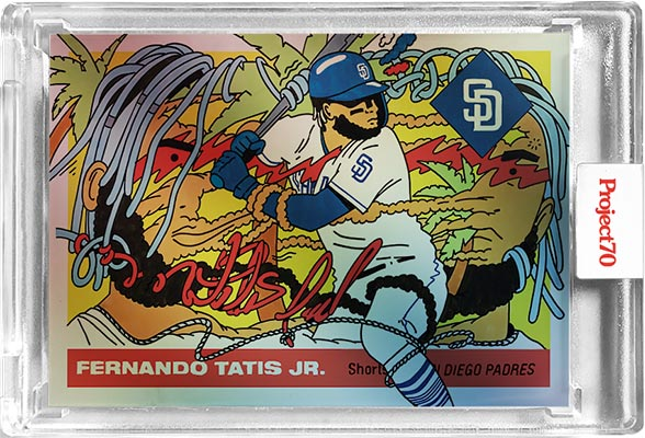 Topps Project70 Rainbow Foil 2 Fernando Tatis Jr. by Ermsy