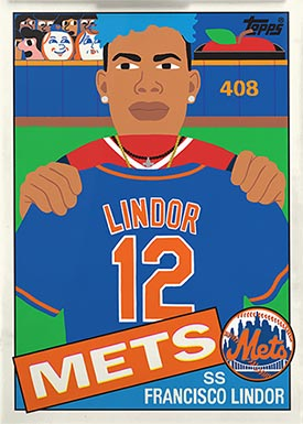 Topps Project70 7 Francisco Lindor by Keith Shore