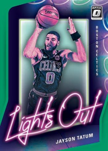 2020-21 Donruss Optic Basketball Lights Out Green Jayson Tatum