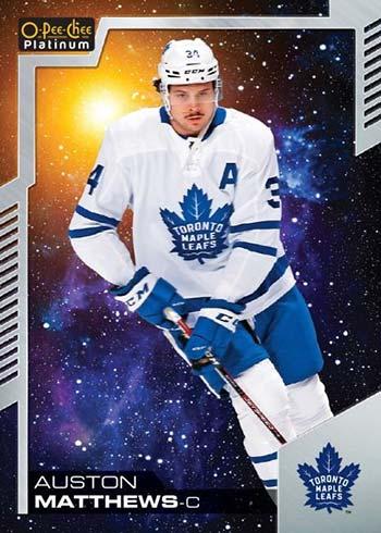 2020-21 O-Pee-Chee Platinum Hockey Cosmic Auston Matthews
