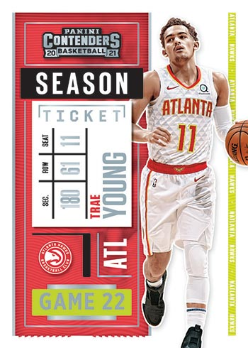 2020-21 Panini Contenders Basketball Trae Young