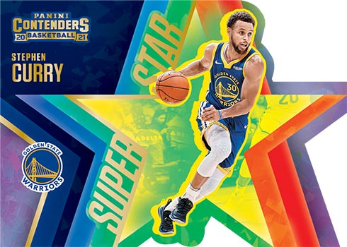 2020-21 Panini Contenders Basketball Superstar Die-Cut Stephen Curry
