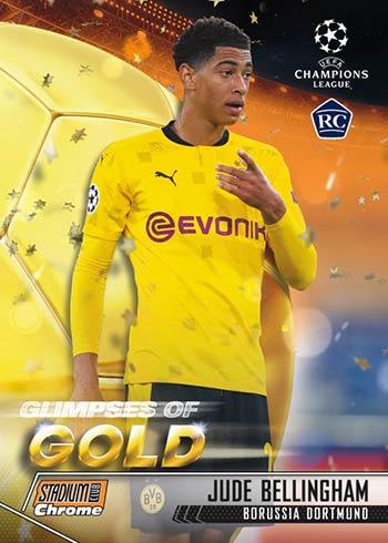 2020-21 Topps Stadium Club Chrome UEFA Glimpses of Gold Jude Bellingham