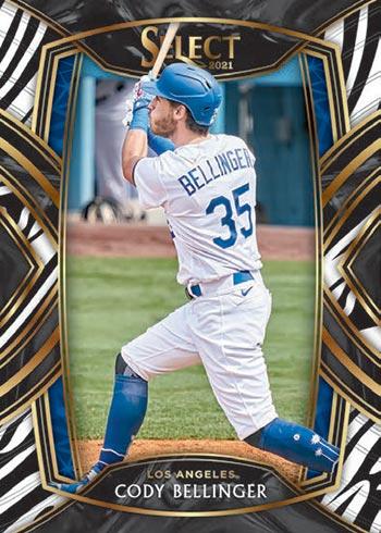 2021 Panini Select Baseball Zebra Cody Bellinger