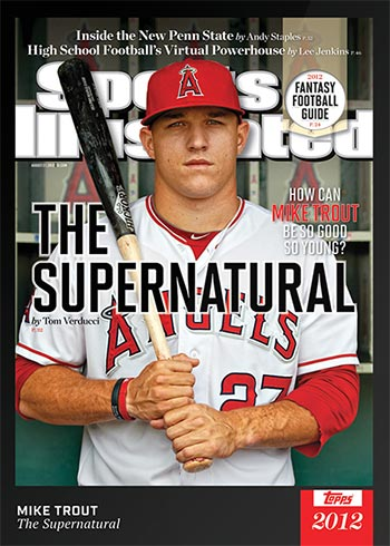 2021 Topps x Sports Illustrated Baseball 1 Mike Trout