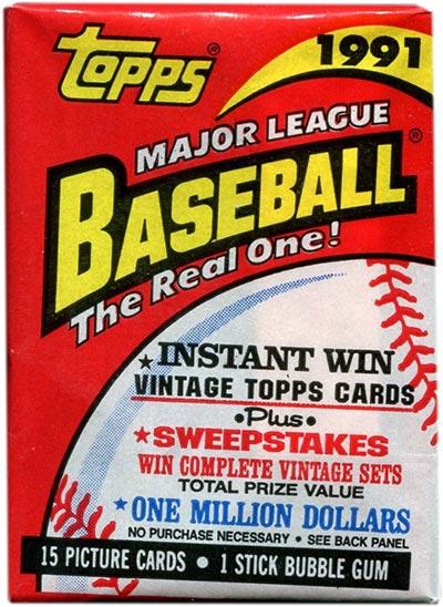 1991 Topps Baseball Pack