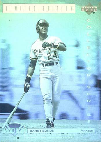 1992 Upper Deck Denny's Holograms Baseball Barry Bonds