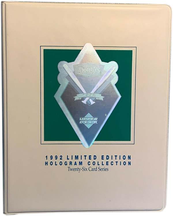 1992 Upper Deck Denny's Holograms Baseball Card Binder