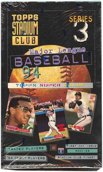 1994 Stadium Club Series 3 Baseball Box