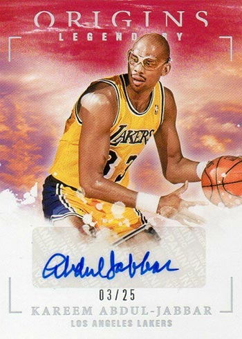 2020-21 Panini Origins Basketball Legendary Signatures Red Kareem Abdul-Jabbar