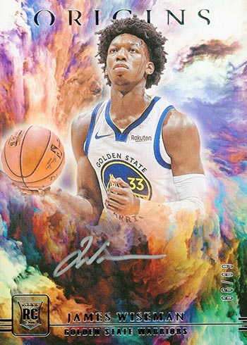 2020-21 Panini Origins Basketball Origins Autographs Silver Ink James Wiseman