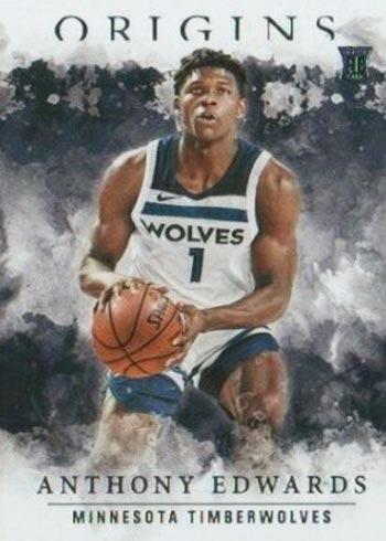 2020-21 Panini Origins Basketball Variations Anthony Edwards