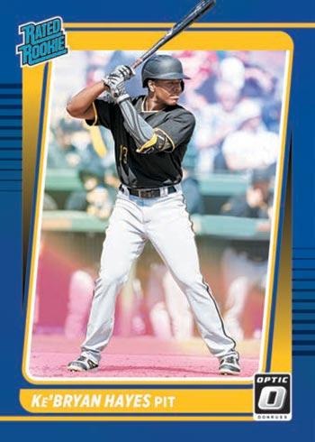 2021 Donruss Optic Baseball Blue Ke'Bryan Hayes Rated Rookie