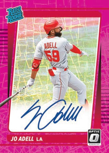 2021 Donruss Optic Baseball Rated Rookie Signatures Pink Velocity Jo Addell