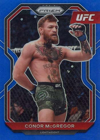 2021 Panini Prizm UFC Blue Prizms Conor McGregor