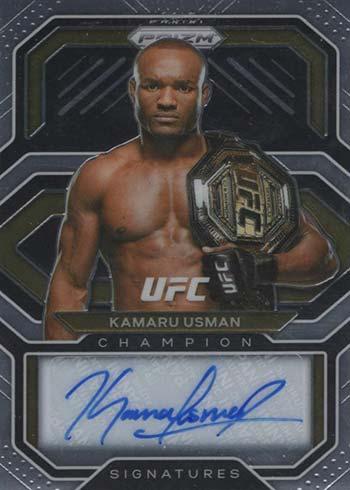 2021 Panini Prizm UFC Champion Signatures Kamaru Usman