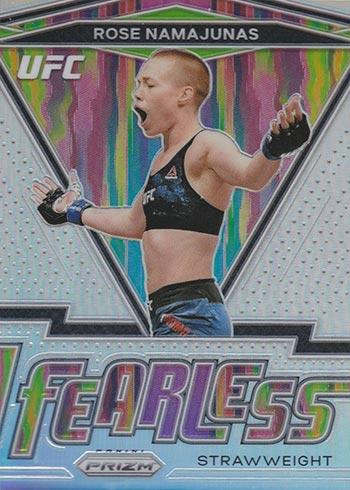 2021 Panini Prizm UFC Fearless Silver Prizms Rose Namajunas