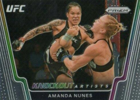 2021 Panini Prizm UFC Knockout Artists Amanda Nunes