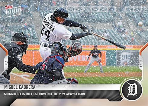 2021 Topps Now Baseball 1 Miguel Cabrera