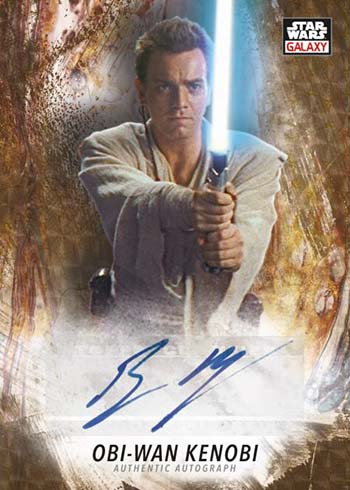 2021 Topps Star Wars Chrome Galaxy Superfractor Autograph