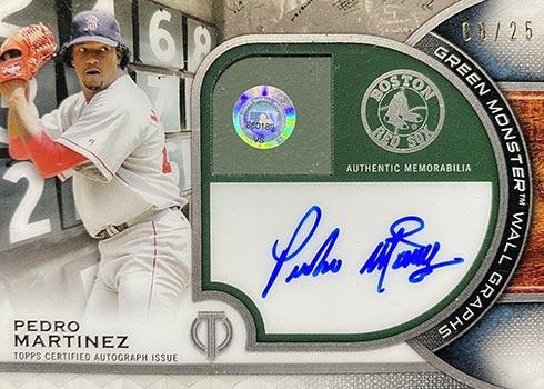 2021 Topps Tribute Baseball Wall Graphs Pedro Martinez