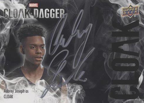 2021 Upper Deck Cloak and Dagger Cloak Autographs Aubrey Joseph