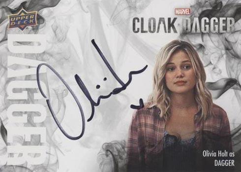 2021 Upper Deck Cloak and Dagger Dagger Autographs Olivia Holt