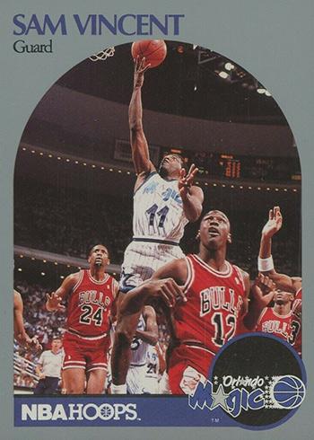 1990=91 Hoops Sam Vincent Michael Jordan 12