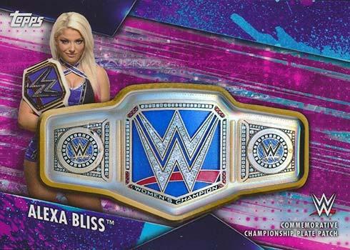 2020 Topps WWE Women's Division Championship Belt Plates Alexa Bliss