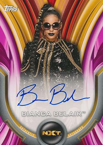 2020 Topps WWE Women's Division Roster Autographs Pink Bianca Belair