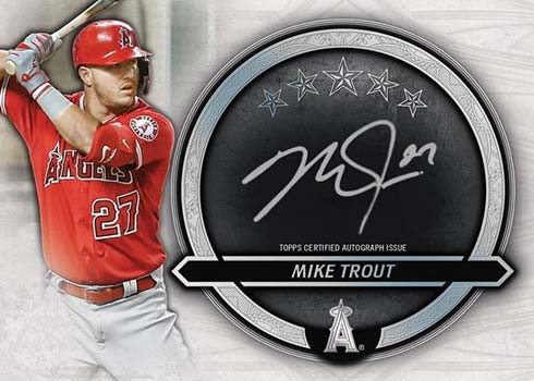 2021 Topps Five Star Baseball Silver Signatures Mike Trout