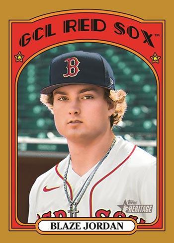 2021 Topps Heritage Minors Baseball Gold Blaze Jordan