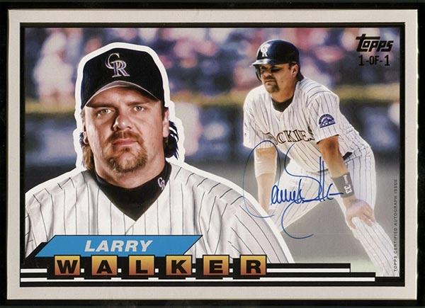 2021 Topps Transcendent Hall of Fame Baseball 1989 Topps Big Framed Autographs Larry Walker