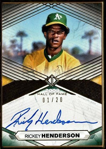 2021 Topps Transcendent Hall of Fame Baseball Rickey Henderson Autograph