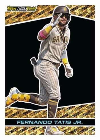 2021 Topps Chrome Update Series Baseball Black Gold Fernando Tatis Jr