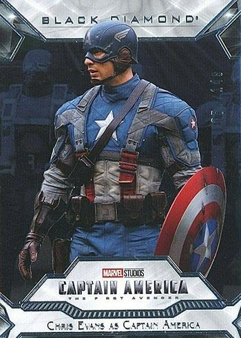 2021 Upper Deck Marvel Black Diamond Captain America