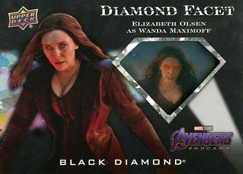 2021 Upper Deck Marvel Black Diamond Diamond Facet Elizabeth Olsen