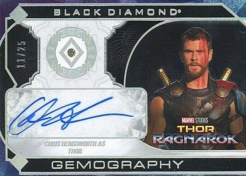 2021 Upper Deck Marvel Black Diamond Gemography Chris Hemsworth Autograph