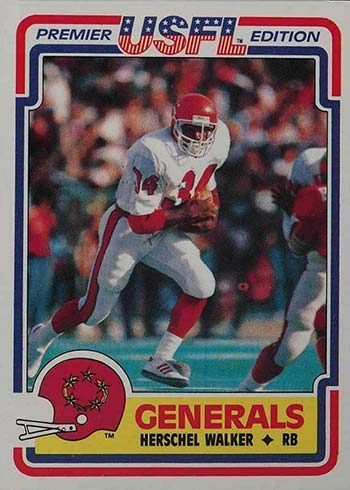 1984 Topps USFL Herschel Walker