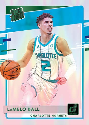 2020-21 Clearly Donruss Basketball Green Lonzo Ball Rated Rookie