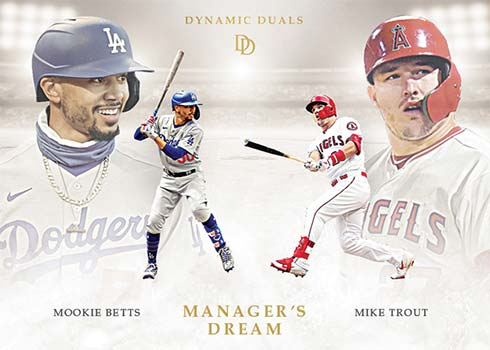 2021 Topps Dynamic Duals Baseball Managers' Dream Mookie Betts Mike Trout